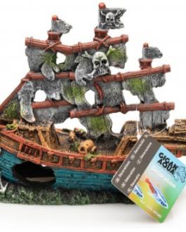 barco decorativo para reptiles