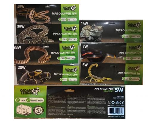 MANTAS TÉRMICAS DE CALOR para reptiles